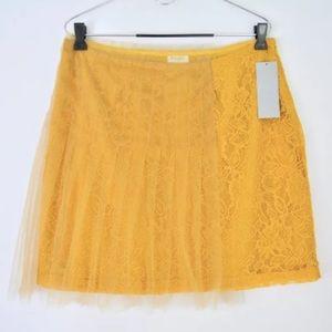 Rodarte Target go yellow skirt lace mini tulle NEW
